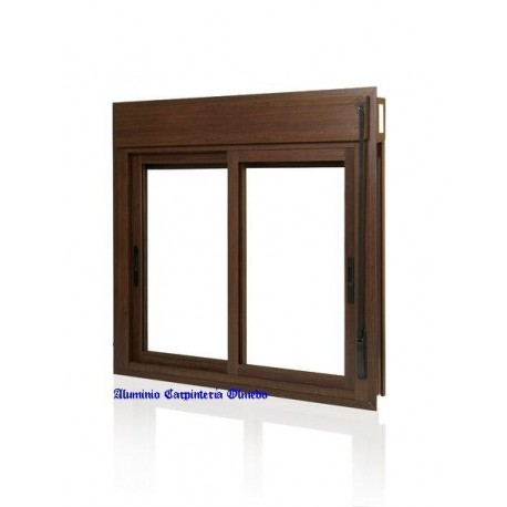Comprar ventana aluminio corredera color nogal for Correderas de aluminio precios
