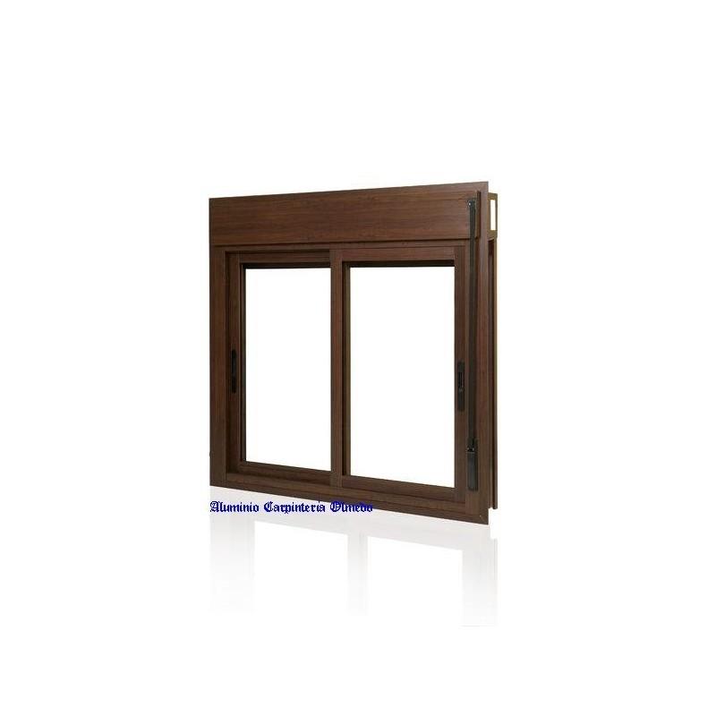 Comprar ventana aluminio corredera color nogal - Comprar ventanas baratas ...