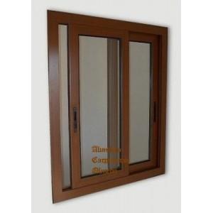 Comprar ventana aluminio corredera nogal for Correderas de aluminio precios
