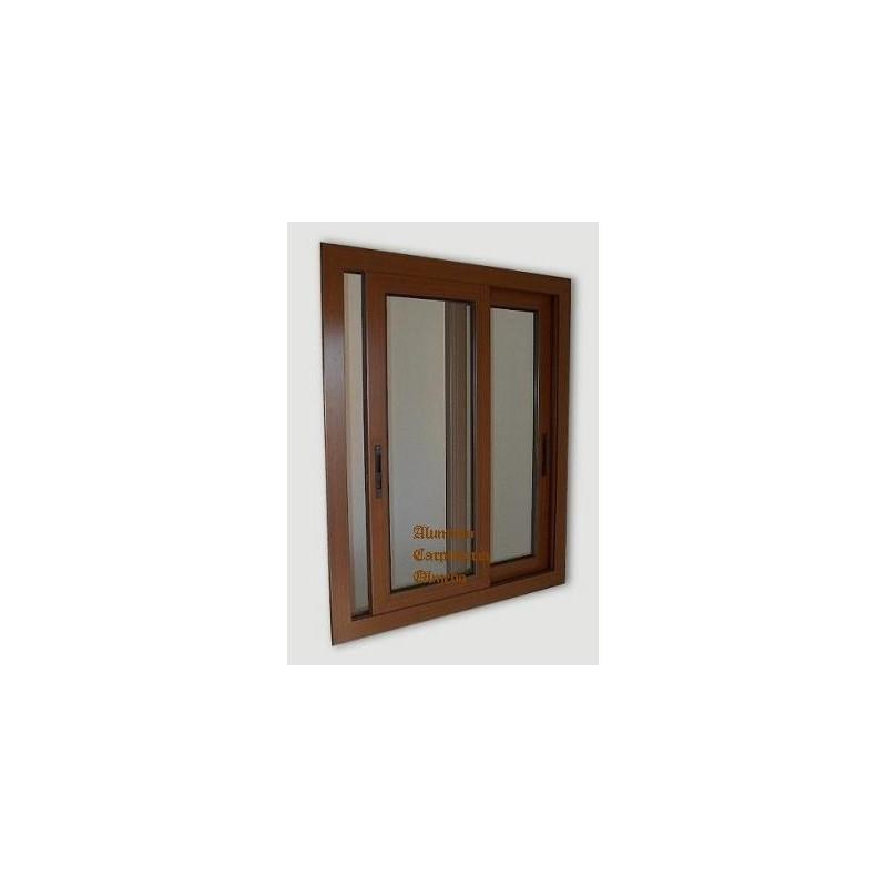 comprar ventana aluminio corredera nogal