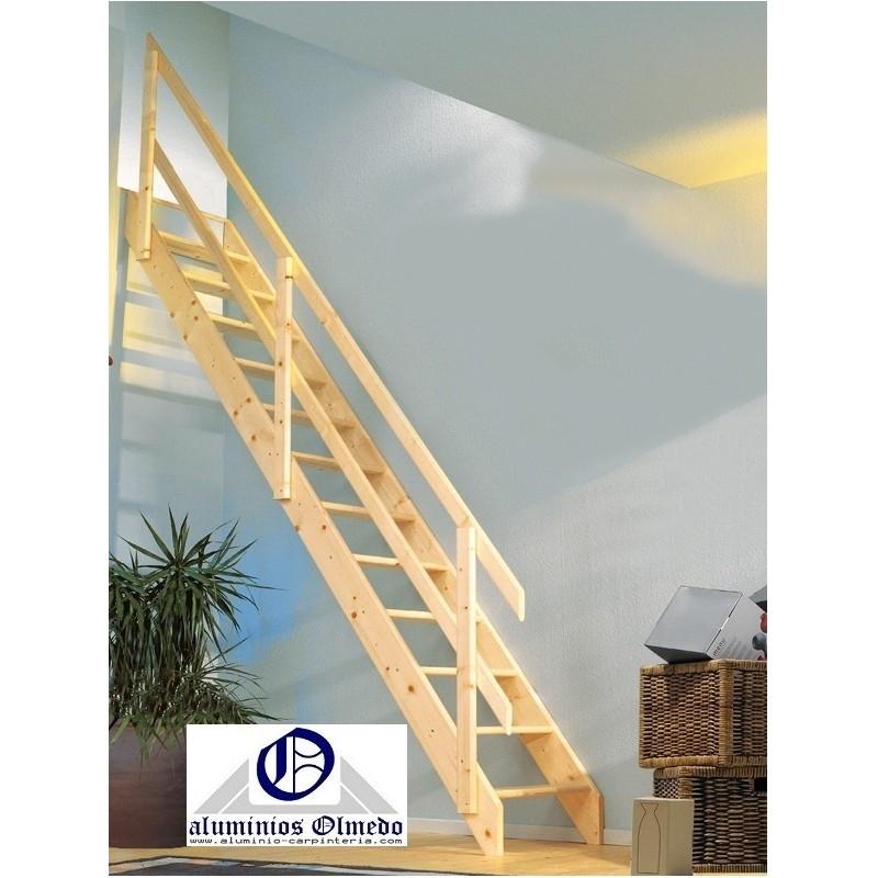 Comprar escalera recta normandia ofertas escaleras madera for Escaleras plegables baratas