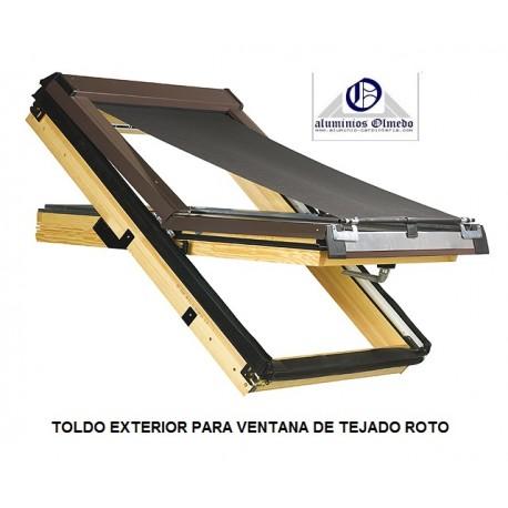Toldo para ventanas de tejado Roto
