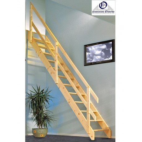 Comprar escalera recta madera maydisa escaleras de madera for Escaleras rectas