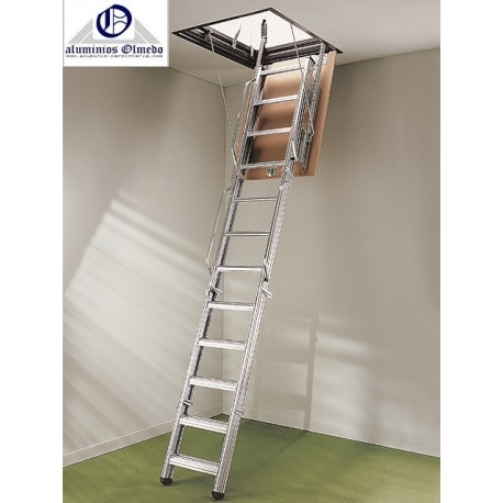 Escalera escamoteable metalica pk4 escalera plegable - Escalera de 3 tramos ...