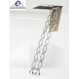 Escalera escamoteable tijera Maydisa modelo ZX techo