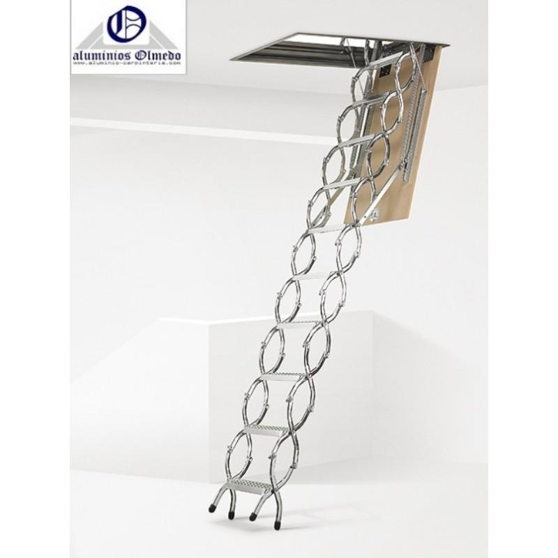 Escalera escamoteable tijera metalica zx escaleras - Escaleras escamoteables baratas ...