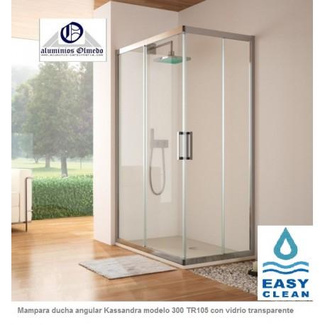 Mampara de ducha kassandra angular tr105 precios mamparas for Precio mampara ducha