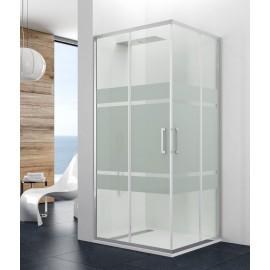 Mampara angular ducha Prestige Titan vidrio decorado