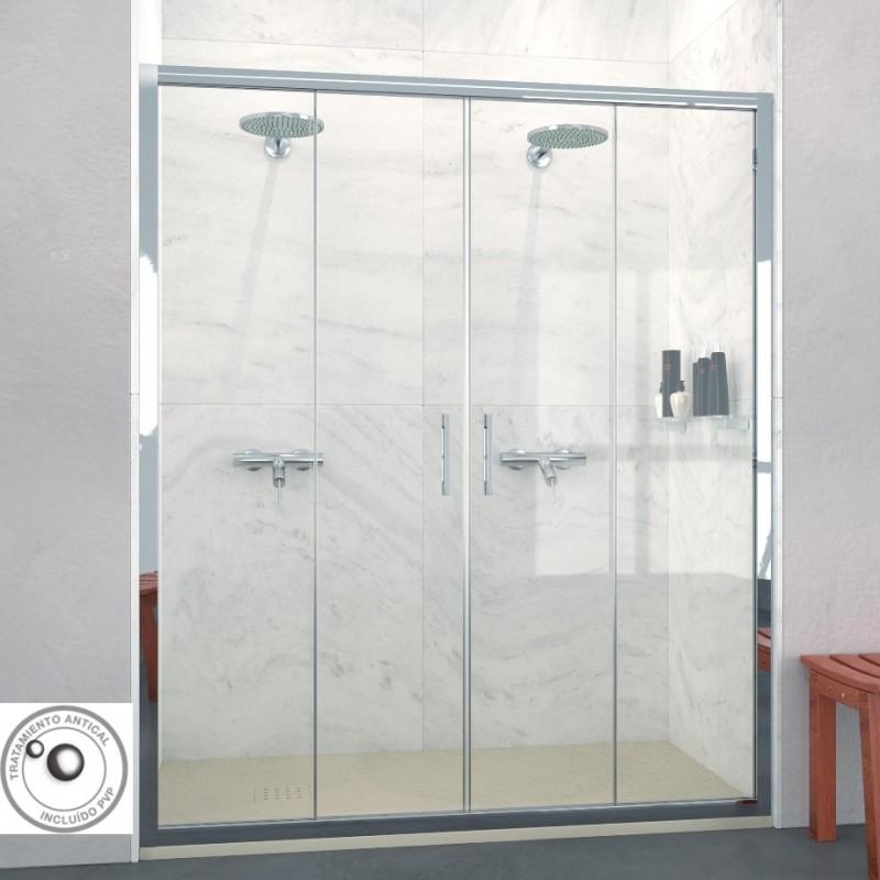Mampara de ducha frontal corredera bogot ofertas for Mampara ducha corredera