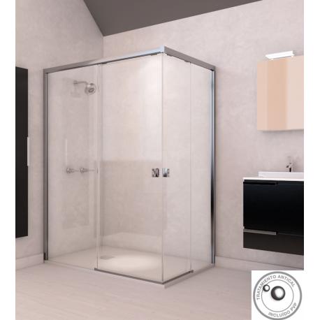 Mampara ducha angular corredera Doccia modelo Austin