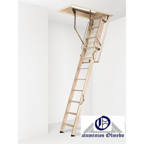 Escalera escamoteable de tramos modelo CT3 madera