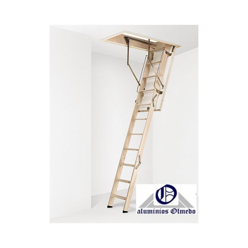 Escalera escamoteable de tramos modelo ct3 madera - Escaleras caracol baratas ...