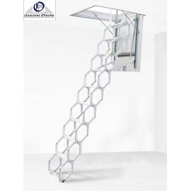 Escalera escamoteable tijera Maydisa modelo LX Lacada