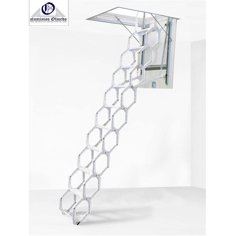 Escalera escamoteable modelo LX Lacada. Escaleras interiores altillo