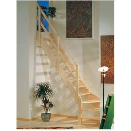 Escaleras de madera Maydisa modelo Normandia cuarto giro