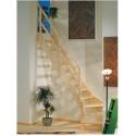 Escalera recta madera Maydisa modelo Normandia cuarto de giro