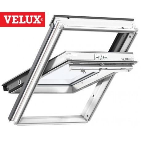 Ventana VELUX giratoria GGL 2068 blancas y vidrio aislamiento térmico
