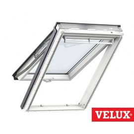Ventana VELUX proyectante GPU 0068 poliuretano blanco con vidrio máximo aislamiento