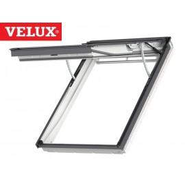 Ventana VELUX proyectante eléctrica GPU 007021 poliuretano blanco y vidrio laminado seguridad