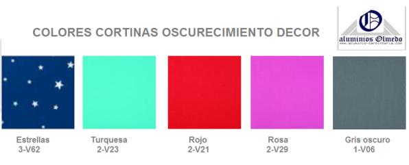 Colores cortinas oscurecimiento ROTO modelo Decor